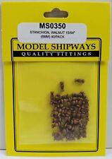 "Model Shipways STANCHION, Walnut 15/64"" (6mm) 40 pack"