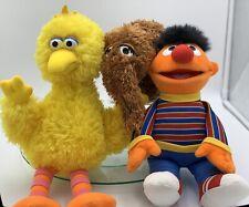 Sesame Street, Gund, Big Bird, Ernie, Snuffy, Plush Lot, Bundle X 3, As New
