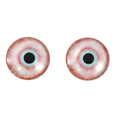 Pair of 20mm Bloodshot Zombie Human Glass Eyes with Whites Cabochons Set