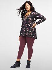 NEW Torrid Winetasting Twill Skinny Jeans Trouser Crop Size 16 capri pants