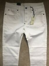 """G-STAR RAW COMFORT WHITE """"ATTACC"""" STRAIGHT FIT JEANS - 32"""" x 32"""" NEW & TAGS"""