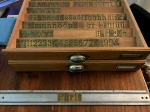 Schriftsatz Antiqua für Gravograph Graviermaschine, Messing
