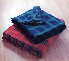 Couvertures noirs en polyester pour le lit