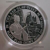 2021 Tuvalu 1oz Silver Black Flag: Ching Shih The Red Flag Fleet Coin .9999 Fine