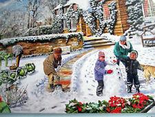 "New 300 Piece Trevor Mitchell Art Puzzle""A Winter Garden"" Large Format 18""x24"""