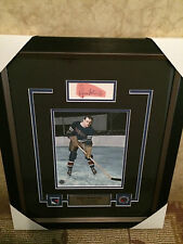 Lynn Patrick autographed (cut signature) framed picture (with pins and nameplate