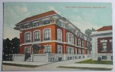 1914 POSTCARD OF NEW ELKS CLUB ROOMS DANVILLE ILLINOIS TO SOUTH BEND