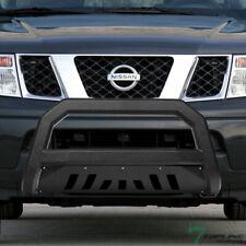Topline For 2005-2019 Nissan Frontier AVT Bull Bar Grille Guard - Textured Black