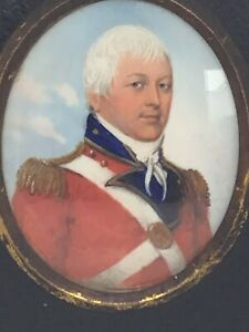 c1810 Irish Napolionic Officer Portrait Miniature Painting Frederick Buck