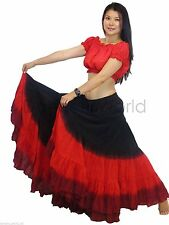 25 YARD GYPSY BELLYDANCE SKIRT, tribal fusion dance skirt, 2pc LONG 39INCH