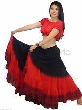 25 YARD GYPSY BELLYDANCE SKIRT, tribal fusion dance skirt, 2pc LONG 39INCH