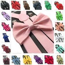 50 Colors Suspender and Bow Tie Set Adults Wedding Formal Men Women (USA)