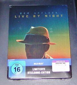Live By Night Con Ben Affleck Limitata steelbook Con Innendruck blu ray Nuovo
