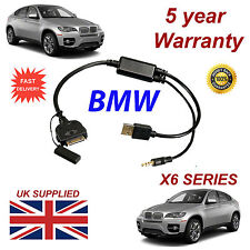 BMW x6 SERIE (611204407) per Apple 3gs 4 4s IPHONE IPOD USB CAVO AUX & 3.5mm