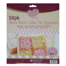 Square Cake Tin Liners Assorted Sizes Non Stick Grease Proof Baking Sheets