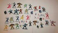 Lot of 47 PVC Mini Figures Power Rangers Bandai