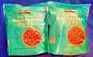 2 PACK KIRKLAND SIGNATURE HONEY ROASTED MACADAMIA NUTS, 24 OZ EACH