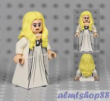 LEGO - Female Minifigure White Silver Dress & Blonde Long Wavy Hair Princess