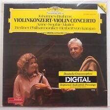 BRAHMS: Violin Concerto SEALED DGG GER lp MUTTER / KARAJAN beauty RARE DIGITAL!
