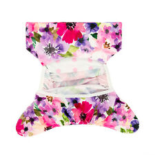 Alva Baby Girl Cloth Diaper Cover Snaps Waterproof PUL  With Double Gussest