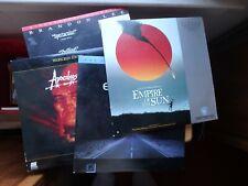 Laserdiscs lot of New 7 The Crow/Empire Of Sun/Close Encounters/Apocalypse Now