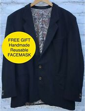 BOSS HUGO BOSS 20 Mens Black Smart Blazer Jacket 60% Wool 20% Cashmere Size 44