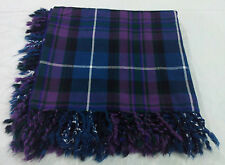 "Men's Kilt Fly Plaid Pride Of Scotland 48"" X 48""/PRIDE OF SCOTLAND TARTAN WOOL"