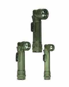 US Winkeltaschenlampe Small (2AA) Oliv Military Outdoor