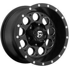 "4-Fuel D525 Revolver 15x10 5x4.5""/5x4.75"" -43mm Black/Milled Wheels Rims 15 Inch"
