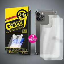 2x Rückseite Schutzglas für iPhone 11   11 Pro   11 Pro Max Panzerfolie 9H Glas