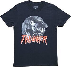 Men's Young Thug Thugger Snake Skull Rapper Rap Black Tee T-Shirt New