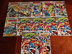 Marvel Comics Invaders #7 14 31 35-37 12 Comic Book Lot