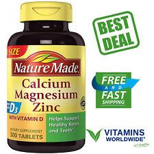 CALCIUM MAGNESIUM ZINC Plus Vitamin D3 NATURE MADE Dietary Supplement 300 Tabs