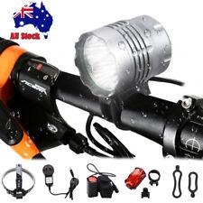 40000Lm 4x XML T6 LED Head Front MTB Bicycle light Bike Lamp Headlight Battery
