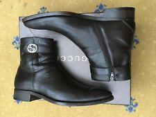 Gucci Mens Shoes Brown Leather Chelsea Dealer Boots UK 8 US 9 42 Interlocking
