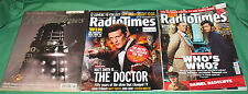 Rare: 3 x Doctor Who covers Radio Times, 1999/2007&13. V VGC. Sale4charity do.