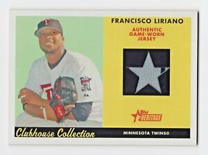 2007 Topps Heritage Clubhouse Collection Relic Francisco Liriano Twins Jersey