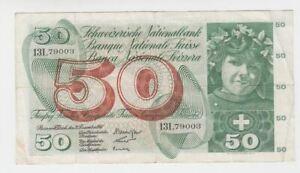 21.12.1961 Schweiz, 50 Franken, 1961 gebraucht 70009