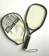 vintage omega racquetball racquet with zipper cover