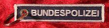 Bundespolizei Schlüsselanhänger beidseitig bestickt NEU blau