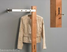 Garderobe Wandgarderobe Kleiderhaken Santiago Wildeiche massiv Metall