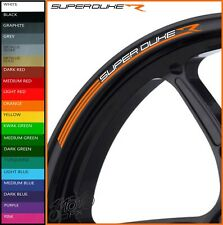KTM SUPERDUKE R Wheel Rim Stickers Decals - 20 Colours - super duke 1290 r gt ra