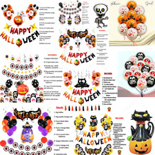 Happy Halloween Balloons Skull Ghost witch monster horror night party ballons UK