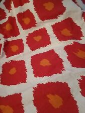 Pottery Barn Ikat Red Orange Duvet Twin