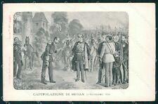 Militari Capitolazione di Sedan 1870 Guerra Franco Prussiana cartolina XF0482