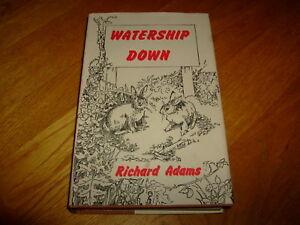 RICHARD ADAMS-WATERSHIP DOWN-SIGNED-HB-VG/NF-1973-2nd PRINTING-V RARE