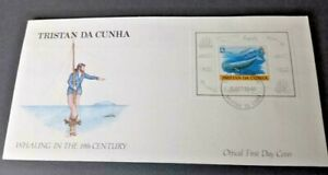 Tristan 1988 19th Century Whaling Miniature Sheet  First Day Cover