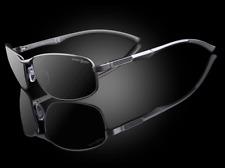 "Men's Design Luxury Small Oval Polarized 100% UV Carbon Fiber Sunglasses ""Helix"""