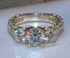 2.20 Ct Round Diamond Forever Brilliant Bridal Engagement Ring 14k White Gold