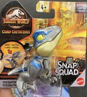 2020 Jurassic World Snap Squad Shiny blue velociraptor Camp Cretaceous